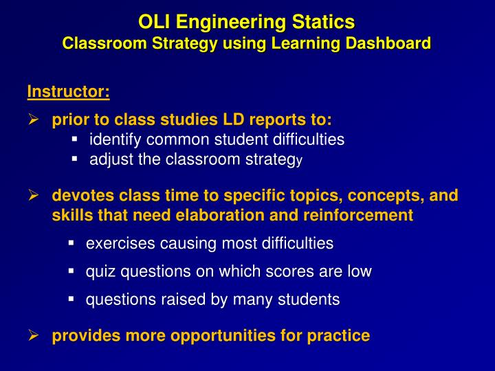 OLI Engineering Statics