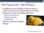 the fuzzy stuff self efficacy
