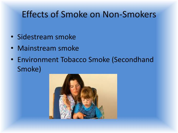 Effects of Smoke on Non-Smokers