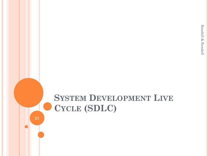 System Development Live Cycle (SDLC)