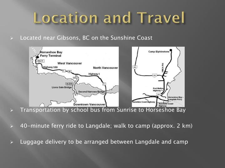 Location and Travel