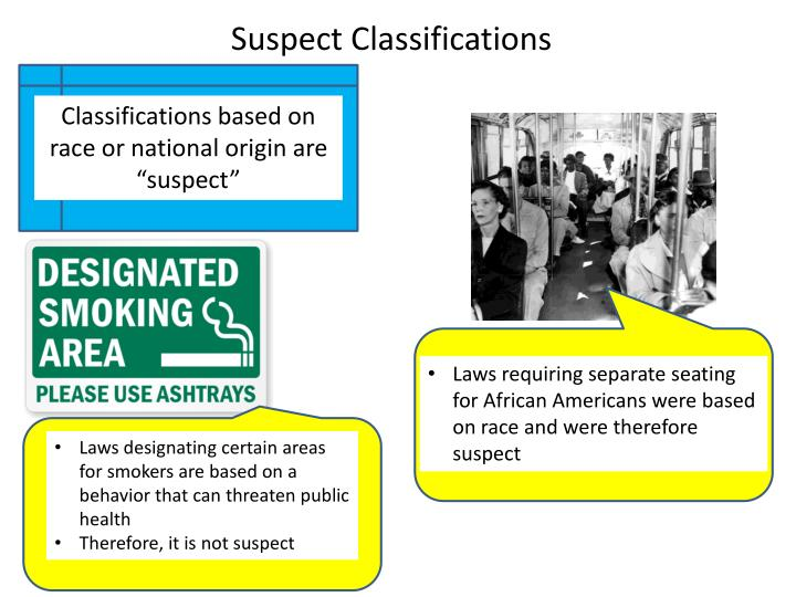 Suspect Classifications