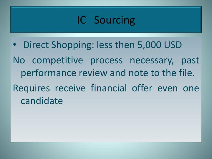 IC   Sourcing