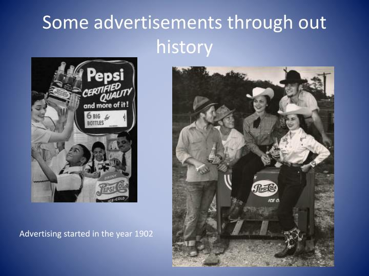 Some advertisements through out history