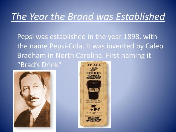 The Year the Brand was Established
