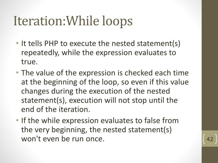 Iteration:While loops