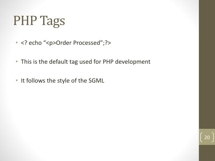 PHP Tags
