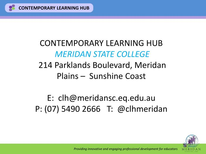 CONTEMPORARY LEARNING HUB
