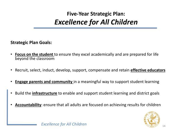 Five-Year Strategic Plan: