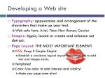 developing a web site