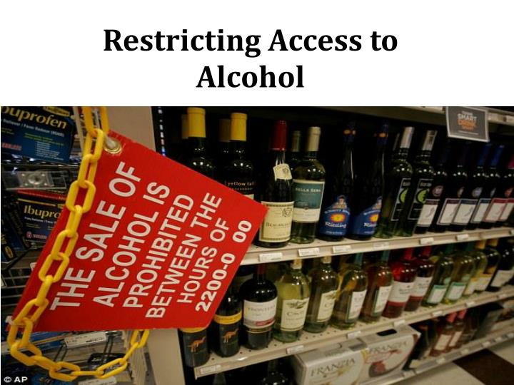 restricting access to alcohol
