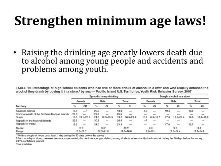 Strengthen minimum age laws!
