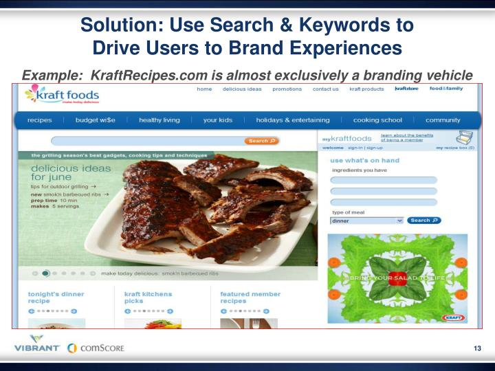 Solution: Use Search & Keywords to