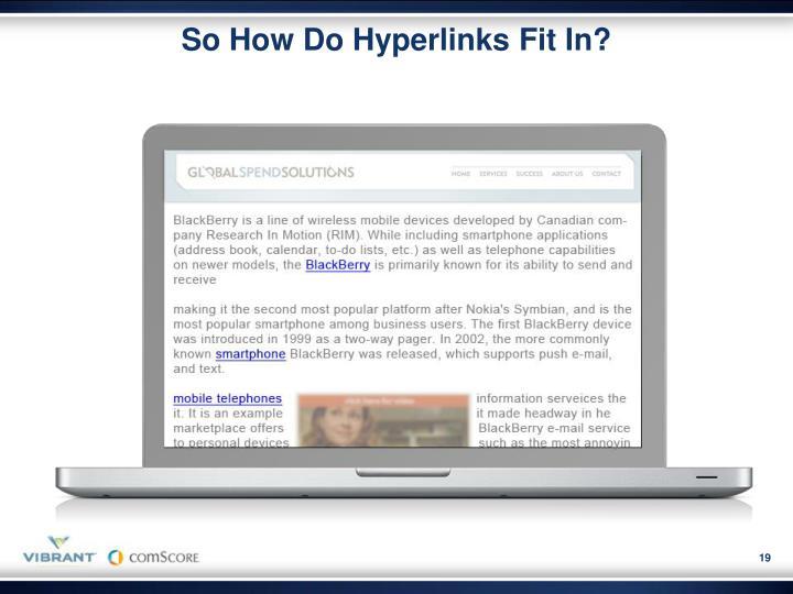 So How Do Hyperlinks Fit In?