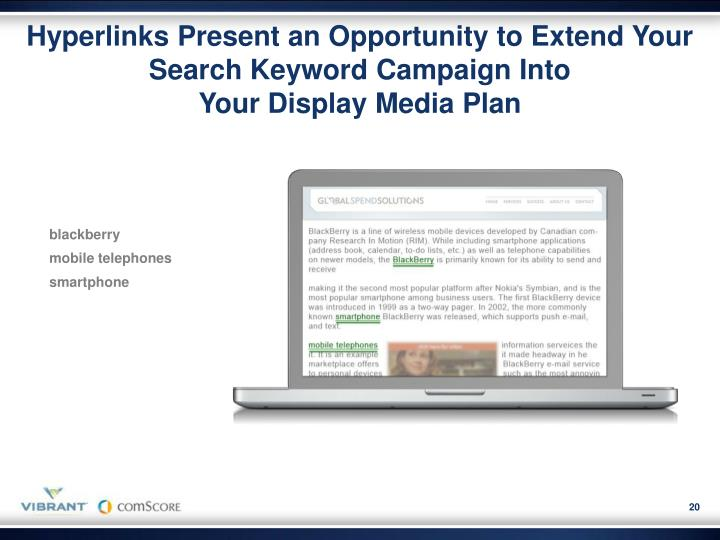 Hyperlinks Present an Opportunity to Extend Your Search Keyword Campaign Into