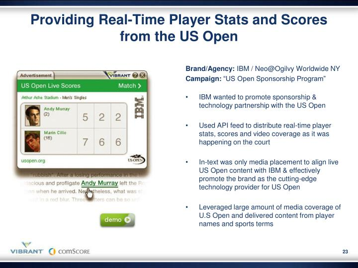 Providing Real-Time Player Stats and Scores