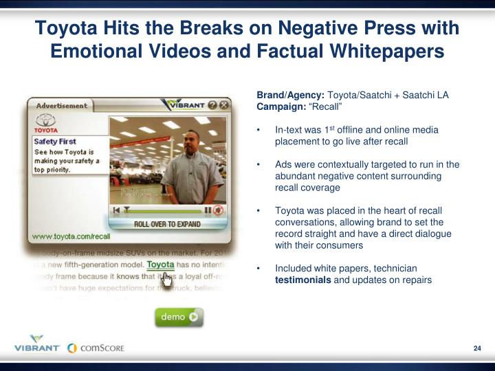 Toyota Hits the Breaks on Negative Press with Emotional Videos