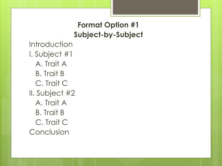 Format Option #1