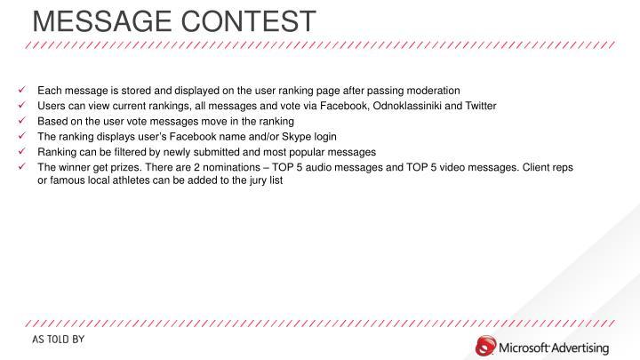 Message contest