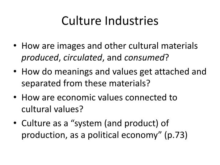 Culture industries
