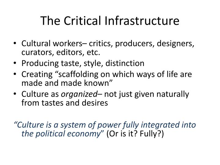 The Critical Infrastructure
