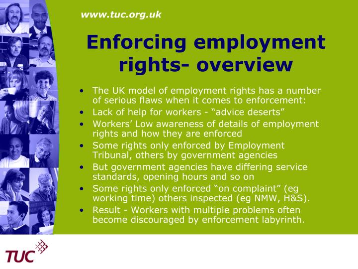 Enforcing employment rights- overview