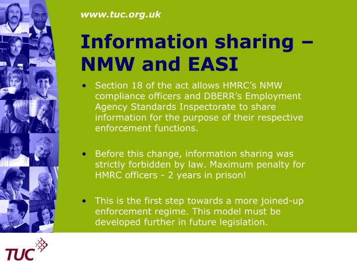 Information sharing –
