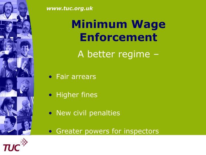 Minimum Wage Enforcement