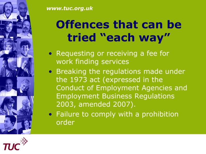 """Offences that can be tried """"each way"""""""