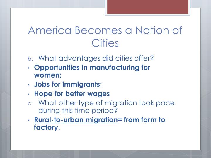 America becomes a nation of cities1