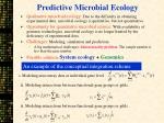 predictive microbial ecology