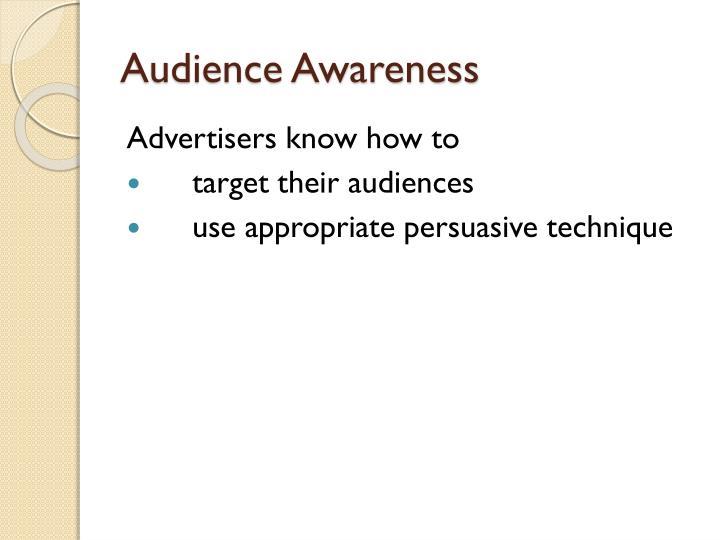 Audience Awareness