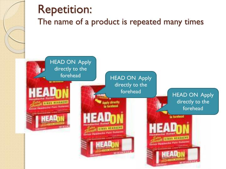 Repetition:
