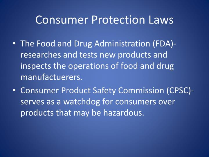 Consumer Protection Laws