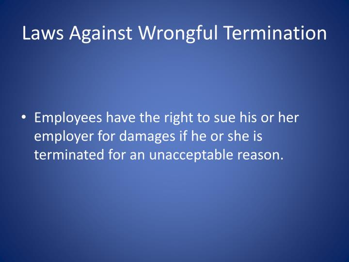 Laws Against Wrongful Termination