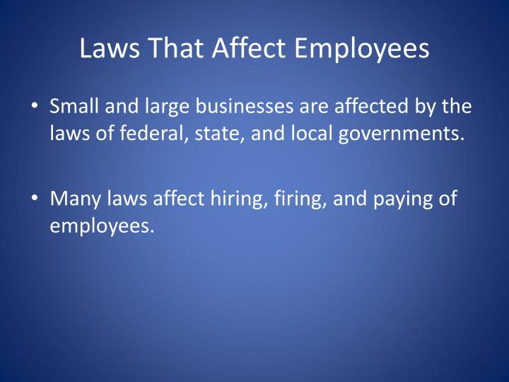 Laws That Affect Employees