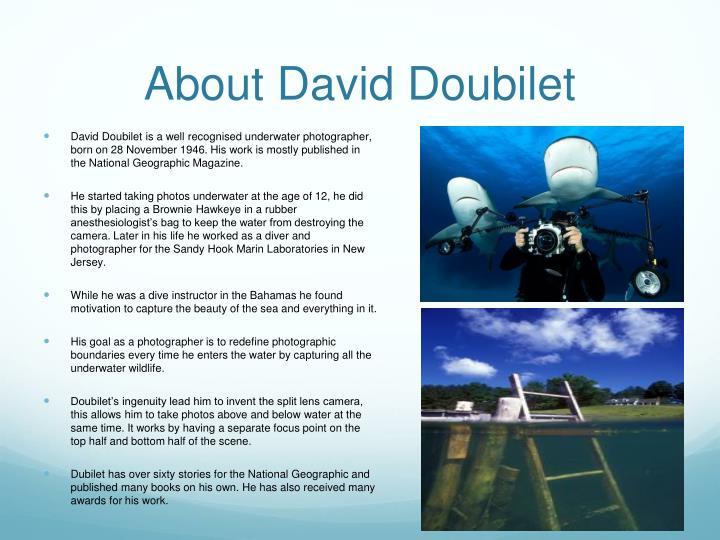About David Doubilet
