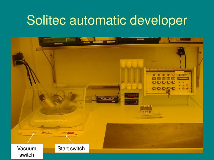 Solitec automatic developer