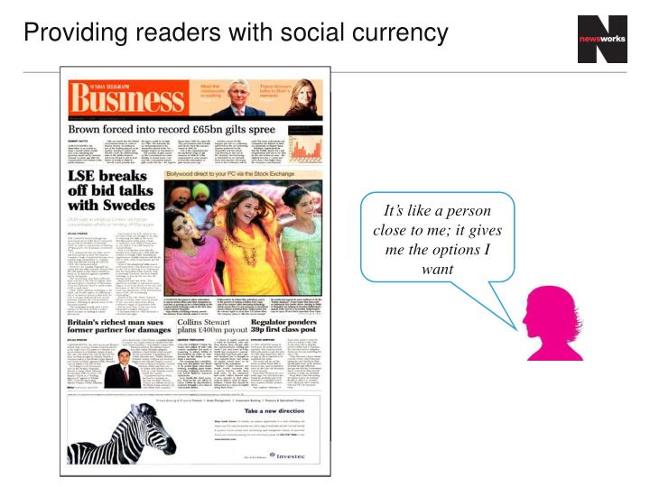 Providing readers with
