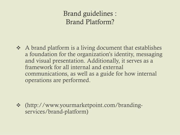 Brand guidelines :