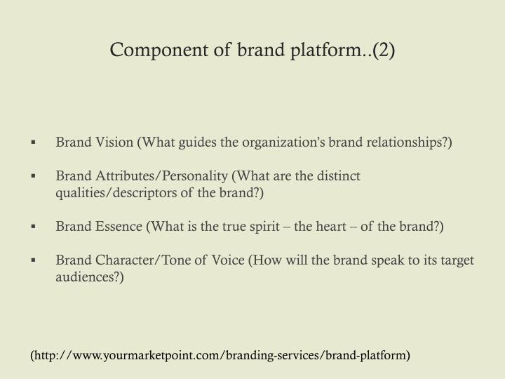 Component of brand platform..(2)