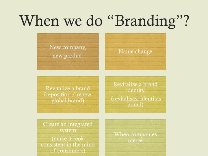 """When we do """"Branding""""?"""