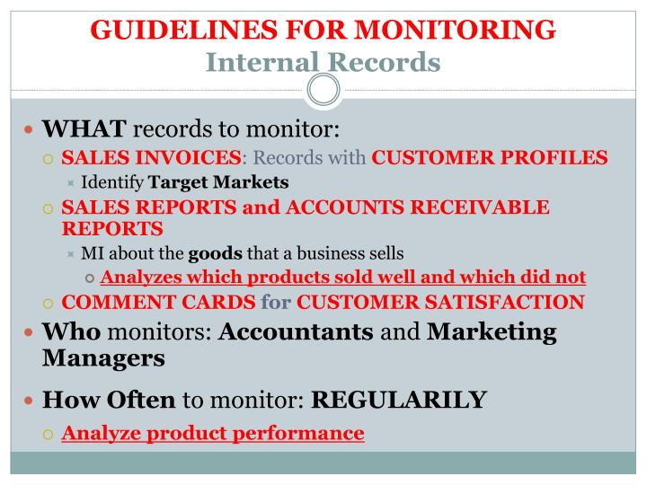 GUIDELINES FOR MONITORING