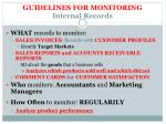 guidelines for monitoring internal r ecords