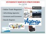 internet service providers for sem