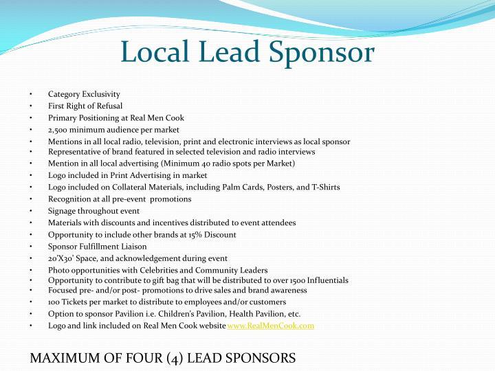 Local Lead Sponsor