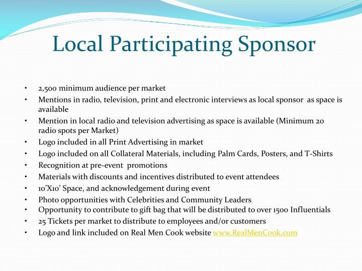 Local Participating Sponsor