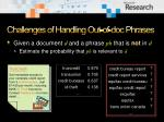 challenges of handling out of doc phrases