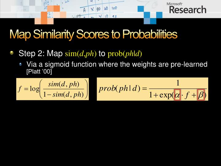 Map Similarity Scores to Probabilities
