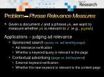 problem phrase relevance measures